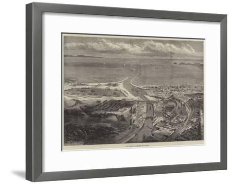 The Swansea Harbour and Docks--Framed Art Print