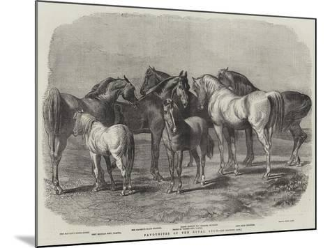 Favourites of the Royal Stud--Mounted Giclee Print