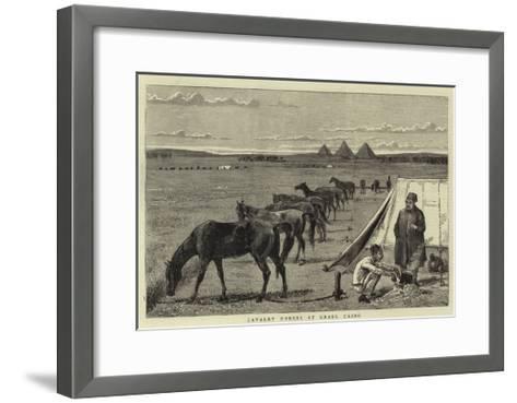 Cavalry Horses at Grass, Cairo--Framed Art Print