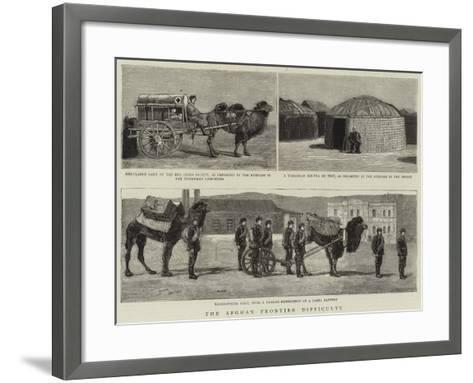 The Afghan Frontier Difficulty--Framed Art Print