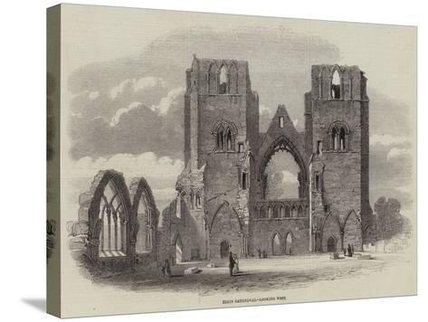 Elgin Cathedral, Looking West--Stretched Canvas Print