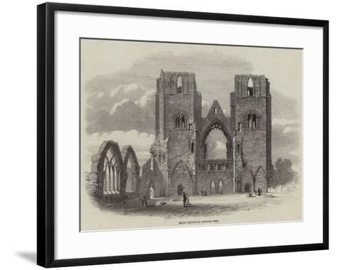 Elgin Cathedral, Looking West--Framed Art Print