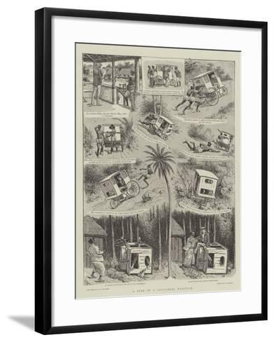 A Ride in a Ceylonese Tricycle--Framed Art Print