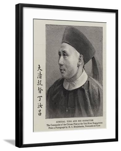 Admiral Ting and His Signature--Framed Art Print