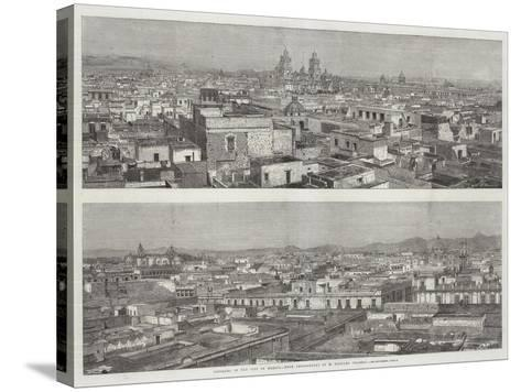 Panorama of the City of Mexico--Stretched Canvas Print