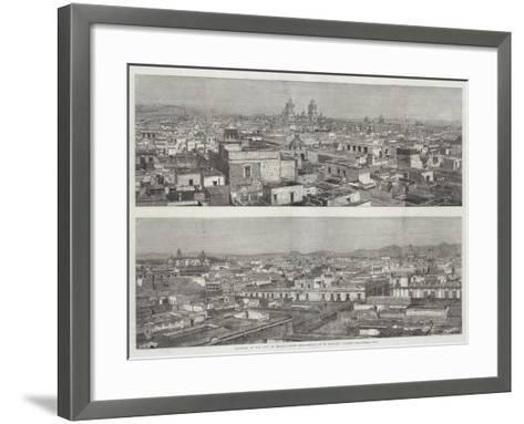 Panorama of the City of Mexico--Framed Art Print