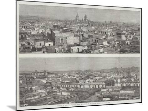Panorama of the City of Mexico--Mounted Giclee Print