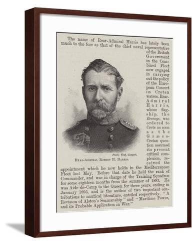 Rear-Admiral Robert H Harris--Framed Art Print