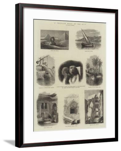 A Thousand Miles Up the Nile--Framed Art Print