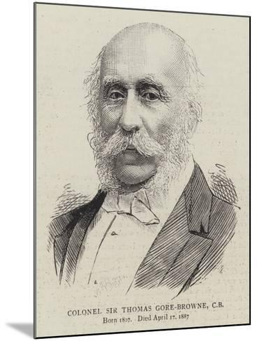 Colonel Sir Thomas Gore-Browne--Mounted Giclee Print