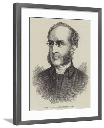 The Late Reverend John Cumming--Framed Art Print