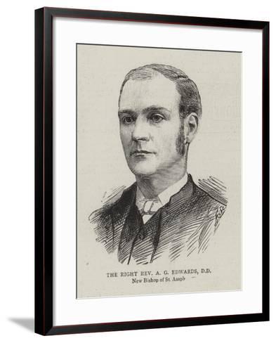 The Right Reverend a G Edwards--Framed Art Print