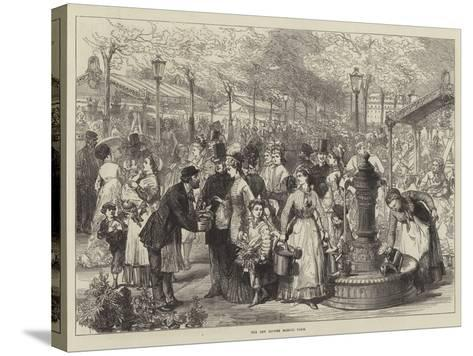 The New Flower Market, Paris--Stretched Canvas Print