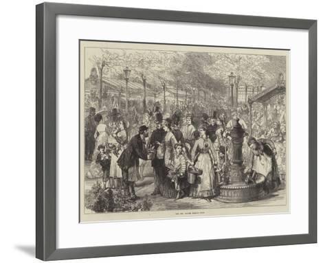 The New Flower Market, Paris--Framed Art Print