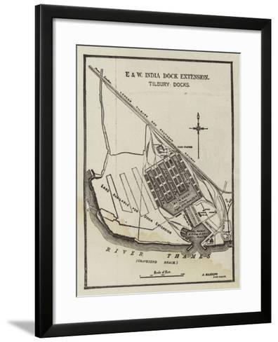The Tilbury Deep-Water Docks--Framed Art Print