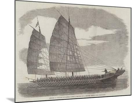 Chinese Pirate-Boat at Canton--Mounted Giclee Print