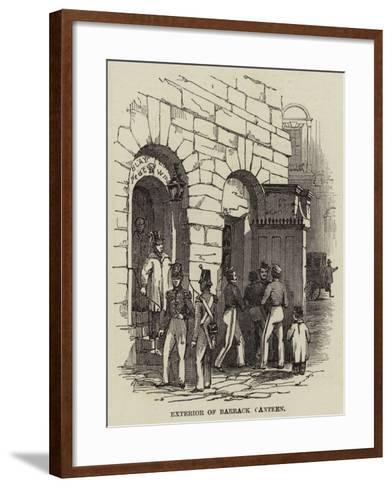 Exterior of a Barrack Canteen--Framed Art Print
