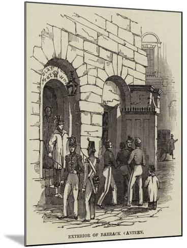 Exterior of a Barrack Canteen--Mounted Giclee Print
