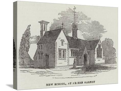 New School, at Friern Barnet--Stretched Canvas Print
