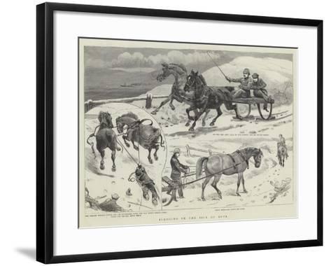Sledging in the Isle of Bute--Framed Art Print