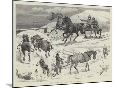 Sledging in the Isle of Bute--Mounted Giclee Print