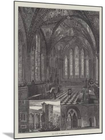 The Chapel of Lambeth Palace--Mounted Giclee Print