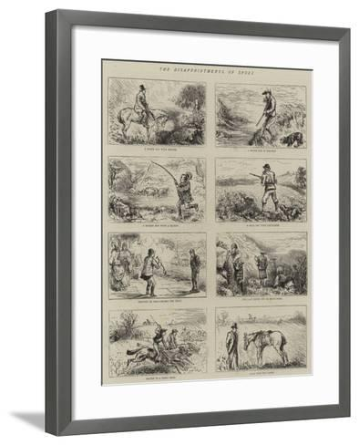 The Disappointments of Sport--Framed Art Print