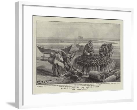 Women Catching the Brent Geese--Framed Art Print