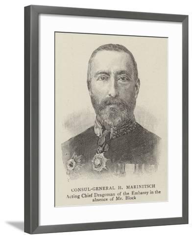 Consul-General H Marinitsch--Framed Art Print