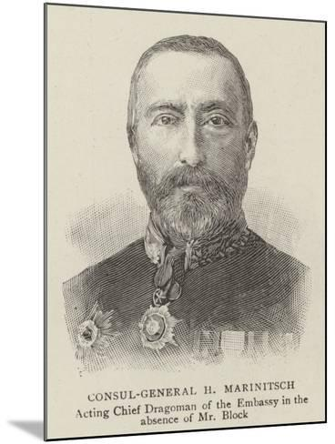 Consul-General H Marinitsch--Mounted Giclee Print