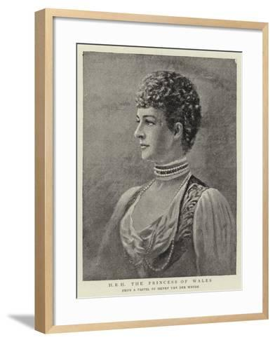 H R H the Princess of Wales--Framed Art Print