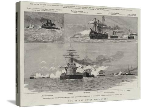 The Recent Naval Manoeuvres--Stretched Canvas Print