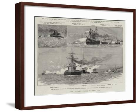 The Recent Naval Manoeuvres--Framed Art Print