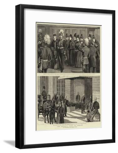 The Queen's Visit to Berlin--Framed Art Print