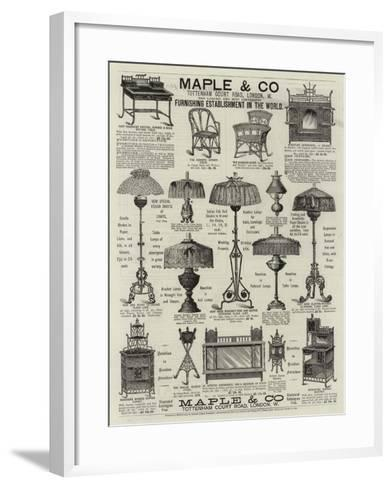 Advertisement, Maple and Co--Framed Art Print