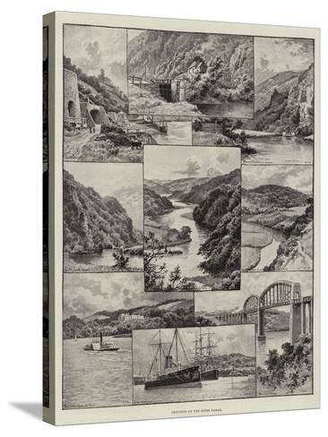 Sketches on the River Tamar--Stretched Canvas Print