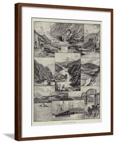 Sketches on the River Tamar--Framed Art Print