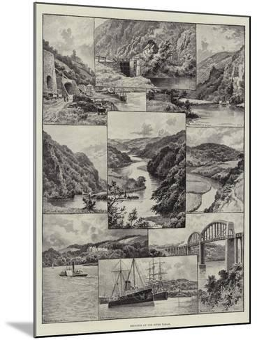 Sketches on the River Tamar--Mounted Giclee Print