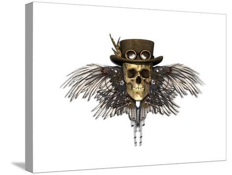 Steampunk Skull-AlienCat-Stretched Canvas Print