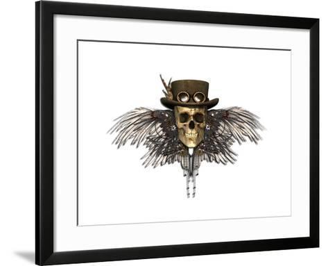 Steampunk Skull-AlienCat-Framed Art Print