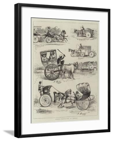 Street-Travelling in Bombay--Framed Art Print