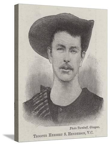 Trooper Herbert S Henderson--Stretched Canvas Print