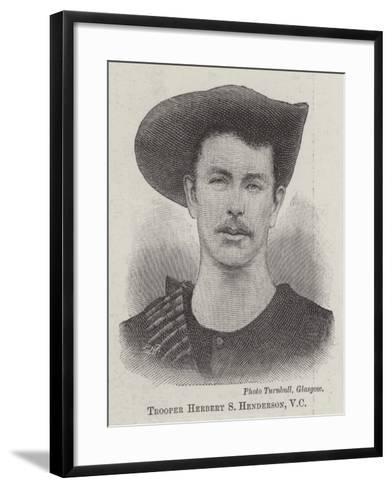 Trooper Herbert S Henderson--Framed Art Print