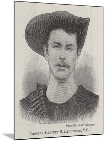 Trooper Herbert S Henderson--Mounted Giclee Print