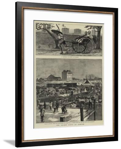 The Recent Riots at Canton--Framed Art Print
