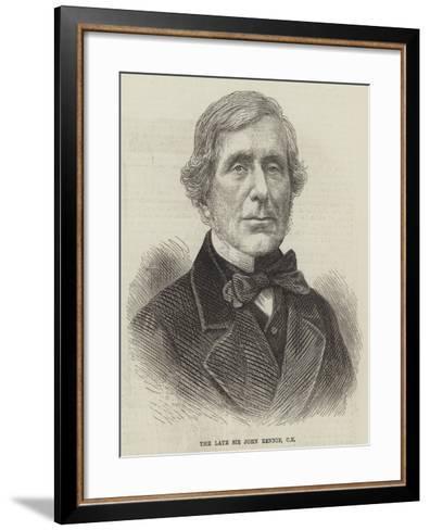 The Late Sir John Rennie--Framed Art Print