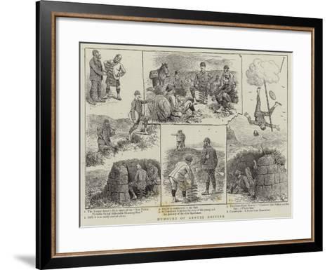 Humours of Grouse Driving--Framed Art Print