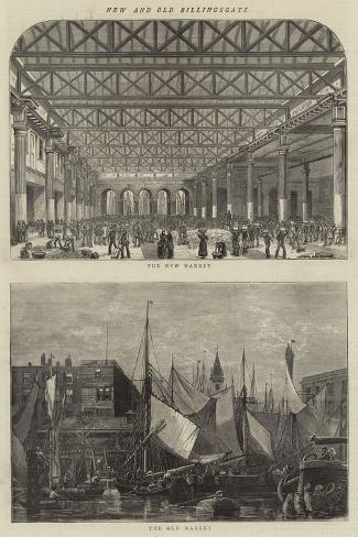New and Old Billingsgate--Stretched Canvas Print