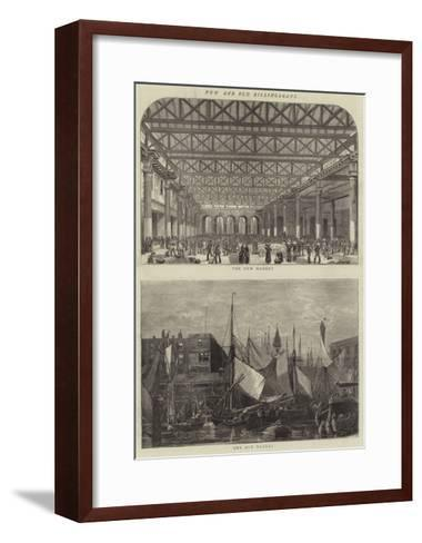 New and Old Billingsgate--Framed Art Print