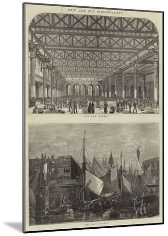 New and Old Billingsgate--Mounted Giclee Print